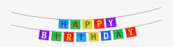 Happy Birthday Streamer Png Clipart Image - Happy Birthday ...