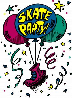 Skating Party Clipart