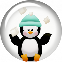 Penguins and Flowers of the Winter Clip Art. | Oh My Fiesta! in english