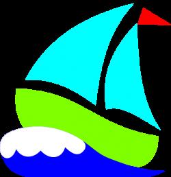 Green sailboat clip art - Clipartix