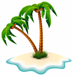 Palm Trees and Island PNG Clipart Image | draw | Pinterest | Clipart ...