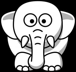 clipartist.net » Clip Art » elephant copy black white line animal ...