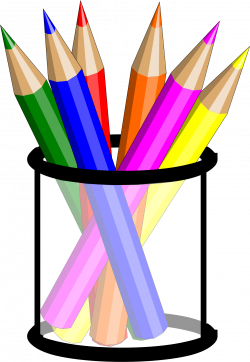 Pencil Cup by @hsayin32, Cup filled with colored pencils, on ...