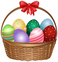 Easter Basket Clip Art Image | Easter clip | Pinterest | Easter ...