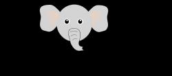 Clipart - E for Elephant