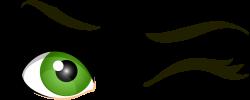 Green Winking Eyes PNG Clip Art - Best WEB Clipart