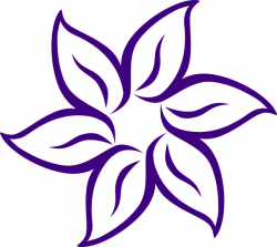 Cartoon Flowers Clip Art | Purple Flower Outline clip art - vector ...