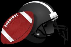 Clipart - American Football and Helmet