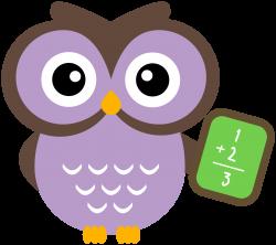 Math Owl Clipart