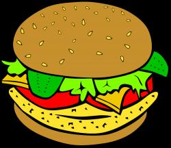 OnlineLabels Clip Art - Fast Food, Lunch-Dinner, Chicken Burger