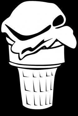clipartist.net » Clip Art » ice cream cones ff menu 3 black white ...