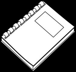 Spiral Notebook Clip Art at Clker.com - vector clip art online ...