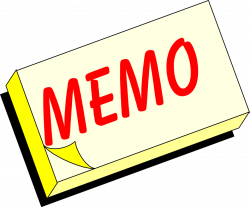 Office Memo Clipart