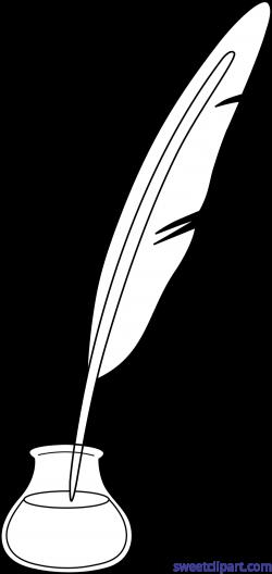 Quill Pen Ink 3 Clip Art - Sweet Clip Art