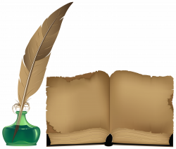 Ancient Book and Inkwell PNG Clipart - Best WEB Clipart