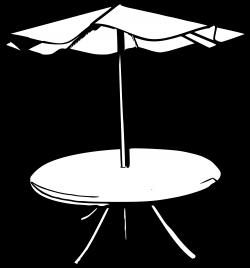 Umbrella Table Clipart