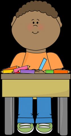 Student Doing School Work | Clip Art-School | School, Clip ...