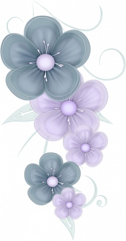 flowers png | Blue Flowers PNG by PVS by ~pixievamp-stock on ...