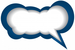 Speech Bubble Blue White PNG Clip Art Image | Gallery Yopriceville ...