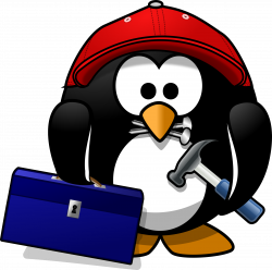 Clipart - Craftsman penguin