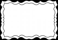 Black and white borders cliparts - Clipartix