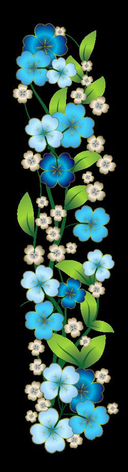 Blue Flower Decor PNG Clipart | Flowers | Pinterest | Blue flowers ...