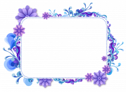 Picture Frames Clip art - blue flower border 2329*1707 transprent ...
