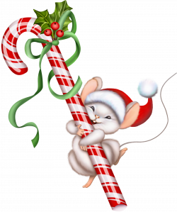 Christmas Candy Cane and Mouse PNG Clipart | Christmas Clip Art 2 ...