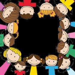 Child Play Clip art - Cartoon children holding hands border ...