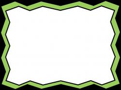 Green Zig Zag Frame - Free Clip Art Frames