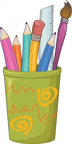 crayons stylos - Page 33   Frame and border   Pinterest   Clip art ...