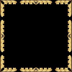 Decorative Border Frame Transparent Clip Art PNG Image | Decorative ...