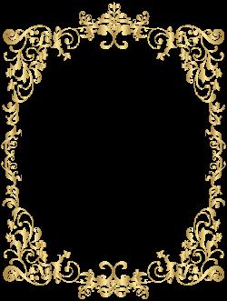Border Gold Decorative Frame PNG Clip Art | Gallery Yopriceville ...