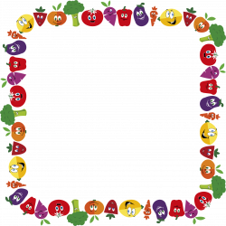 Clipart - Anthropomorphic Fruits And Vegetables Frame 2