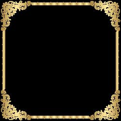 Gold Border Frame Transparent PNG Clip Art Image | Gallery ...