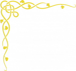 Vine Border Gold Clip Art at Clker.com - vector clip art online ...