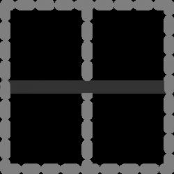 Horizontal Inside Border Icon Clip Art at Clker.com - vector clip ...