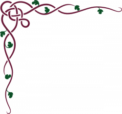 Celtic Ivy Maroon clip art | Illuminated scrolls | Pinterest | Clip ...