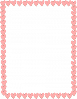 Pink Hearts Border Page Frames Holiday Clipart