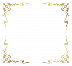 Transparent Decorative Frame Border PNG Picture | Gallery ...