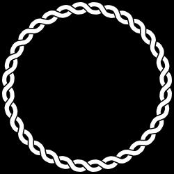Clipart - rope border circle
