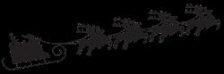 silhouette of horse drawn sleigh | Gallery For > Santa Sleigh ...