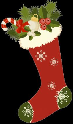 Vintage Christmas Stockings Clipart | Printibles Christmas Digi ...