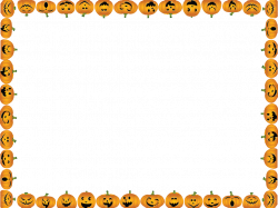 28+ Collection of Halloween Border Clipart Landscape | High quality ...