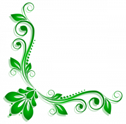 Green Floral Deco PNG Clipart | Artistically and Creatively | Pinterest
