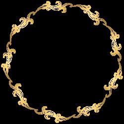 Floral Gold Round Border PNG Transparent Clip Art Image | Boardes ...
