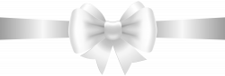 White Bow Transparent Clip Art Image | Gallery Yopriceville - High ...