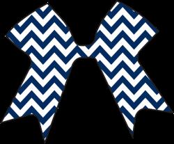 Blue Chevron Decal - Cheer Cases