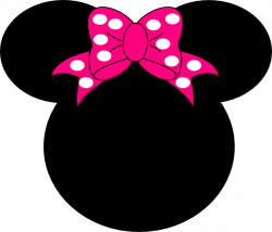 Minnie Mouse Bow Print Out | Minnie Mouse clip art - vector clip art ...