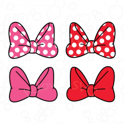 Minnie Mouse Bow Svg, Minnie Bow Svg, Disney Bow Svg, Polka Dots Bow Svg,  Minnie Bow Clipart, Bow SVG, Png, Silhouette, Cut File